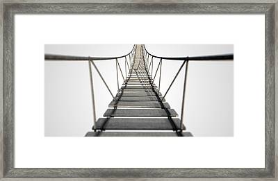 Rope Bridge Framed Print by Allan Swart