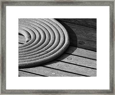 Rope Coil Framed Print by Tony Grider
