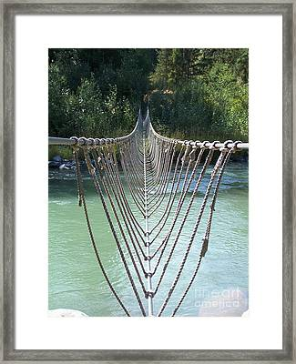 Rope Foot Bridge Framed Print