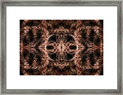 Rope Mantra 4 Framed Print by Lynda Lehmann