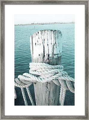 Rope On Post I Framed Print