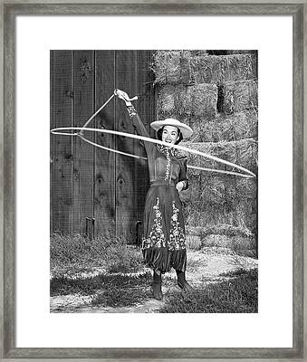 Rope Spinning Actress Framed Print
