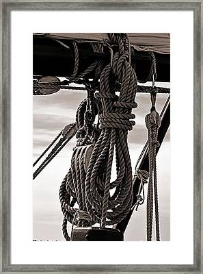 Rope Work Framed Print