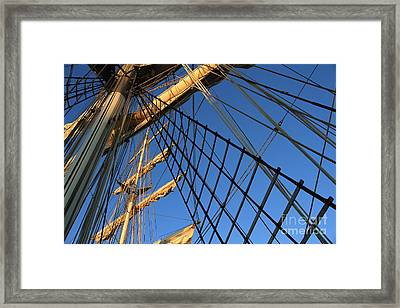 Ropes And Flags Framed Print