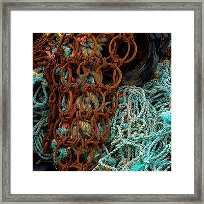 Ropes And Rusty Wires Framed Print