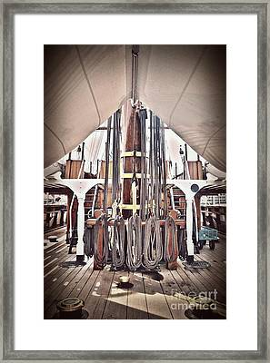 Ropes Of Seafarer Discovery Framed Print