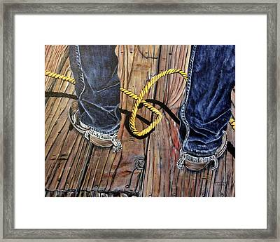 Roping Boots Framed Print by Marilyn  McNish