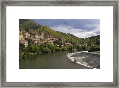 Roquebrun Village Framed Print by Karissa Leonard