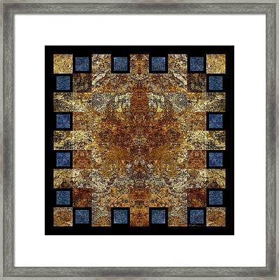 Rorshach Yantra Nine Oh Four Framed Print by Bruce Ricker