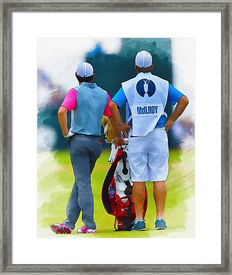 Rory Mcilroy  Framed Print by Don Kuing