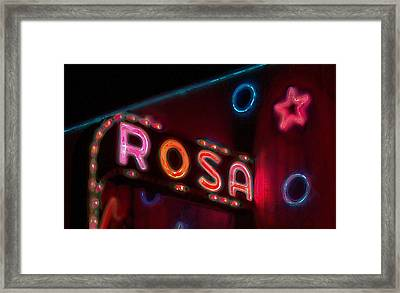 Framed Print featuring the digital art Rosa by David Blank