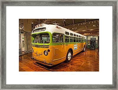 Rosa Parks Bus Framed Print