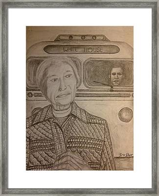 Rosa Parks Imagined Progress Framed Print