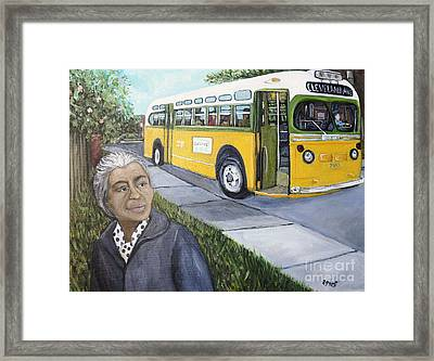 Rosa Parks Framed Print by Reb Frost