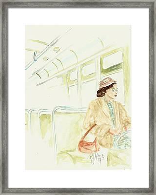 Rosa Parks Rides Framed Print
