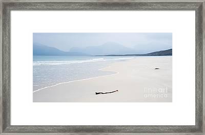 Traigh Rosamol Isle Of Harris Framed Print by Janet Burdon