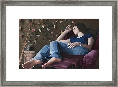Rosamond Framed Print by Charles Pompilius