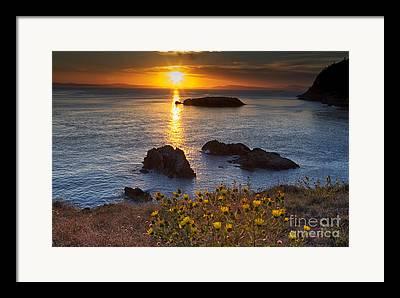 Strait Of Juan De Fuca Framed Prints