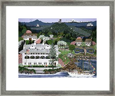 Framed Print featuring the painting Rosario Resort by Jennifer Lake