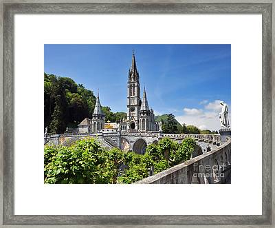 Rosary Basilica In Lourdes France Framed Print by Graham Taylor
