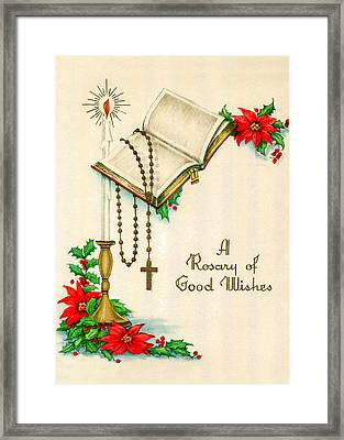 Rosary Good Wishes Framed Print