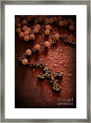 Rosary Love Framed Print by Margie Hurwich