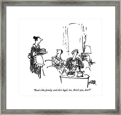 Rosa's Like Family Framed Print by Robert Webe