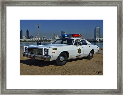 Roscoe's Squad Car Framed Print by Tommy Anderson