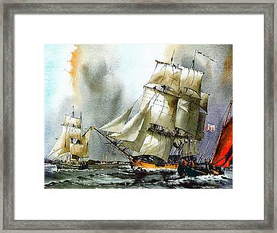 The Us Rose And Asgard 11 Departing Dublin Framed Print
