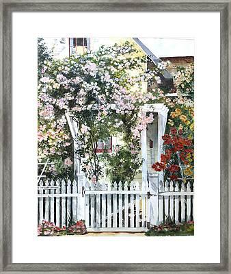 Rose Arbor Framed Print by Susan Crossman Buscho