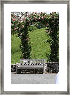 Rose Arch At Longwood Gardens Framed Print by Vadim Levin