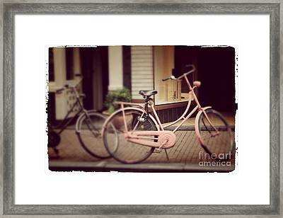 Rose Bike Framed Print by Mary-Lee Sanders