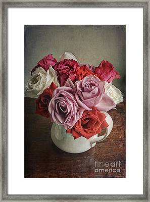 Rose Bounty Framed Print by Terry Rowe