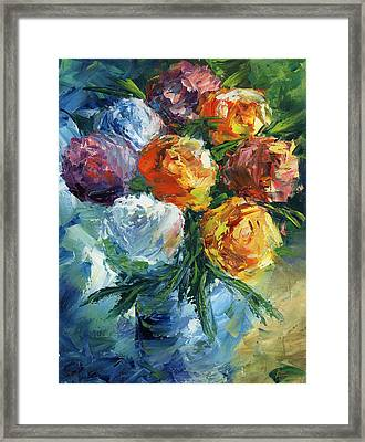 Rose Bouquet Framed Print by Ash Hussein