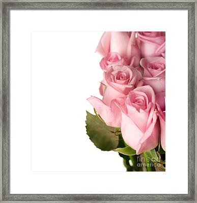 Rose Bouquet Framed Print by Boon Mee