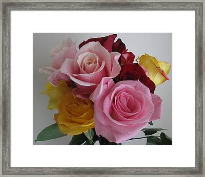 Framed Print featuring the photograph Rose Bouquet by Margaret Newcomb