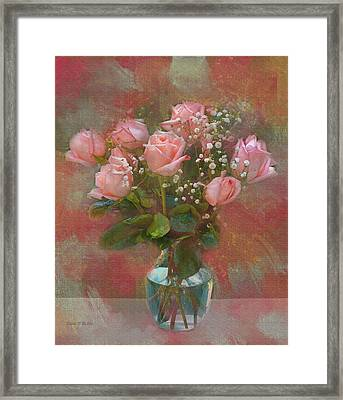 Rose Bouquet Framed Print by Sandi OReilly