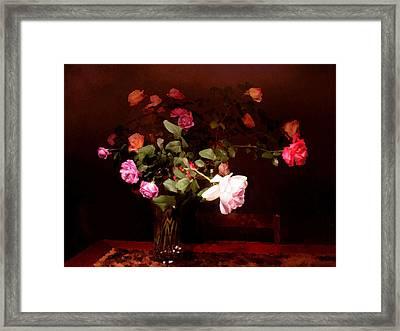 Rose Bouquet Framed Print by Steve Karol
