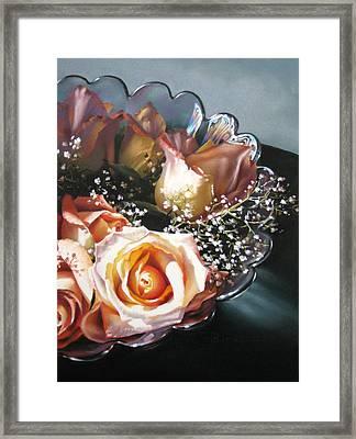 Rose Bowl Framed Print by Dianna Ponting