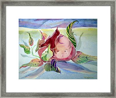 Rose Bud Framed Print by Mindy Newman