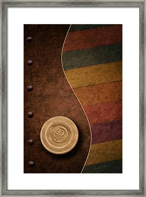 Rose Button Framed Print