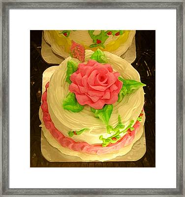 Rose Cakes Framed Print