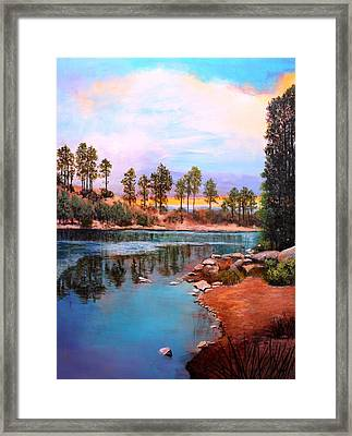 Rose Canyon Lake 2 Framed Print by M Diane Bonaparte