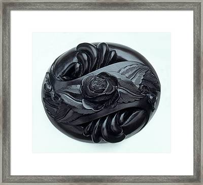 Rose Carved In Jet Framed Print