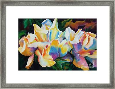 Framed Print featuring the painting Rose Cluster Half by Kathy Braud