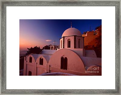 Rose Color Church Framed Print by Aiolos Greek Collections