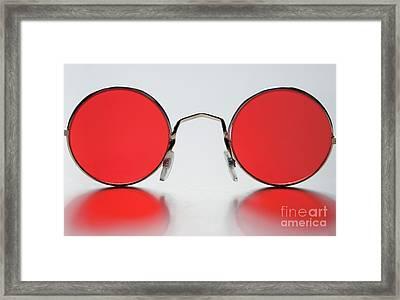 Rose Colored Glasses Framed Print by Dan Holm
