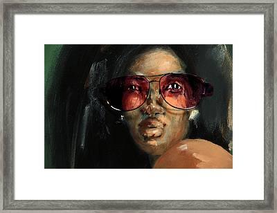 Rose Colored Glasses Framed Print by Jim Vance