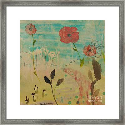 Rose Colored Path Framed Print by Robin Maria Pedrero