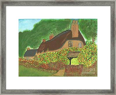 Rose Cottage Framed Print by Tracey Williams